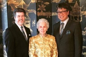 Betty Bower with East Texas Symphony Orchestra Board Chairman, Tony Farmer and Music Director & Conductor, Richard Lee